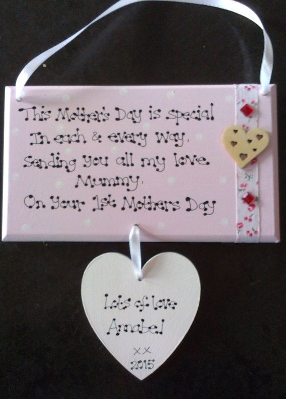 Handmade Personalised 1st First Mothers Day New Mum Mummy Keepsake