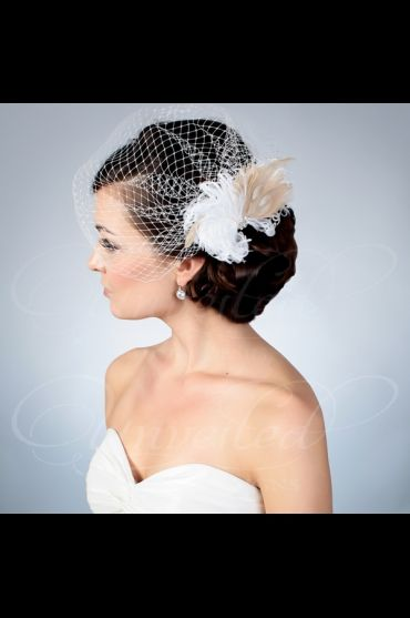 Wedding Veils Birdcage Bridal Hat French Netting