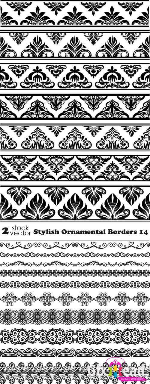 Vectors Stylish Ornamental Borders 14 Gfx Head