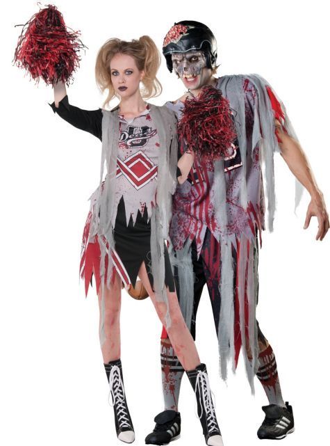 zombie couples costumes adult zombie cheerleader costume 3999 adult football zombie costume - Halloween Costumes Of Zombies