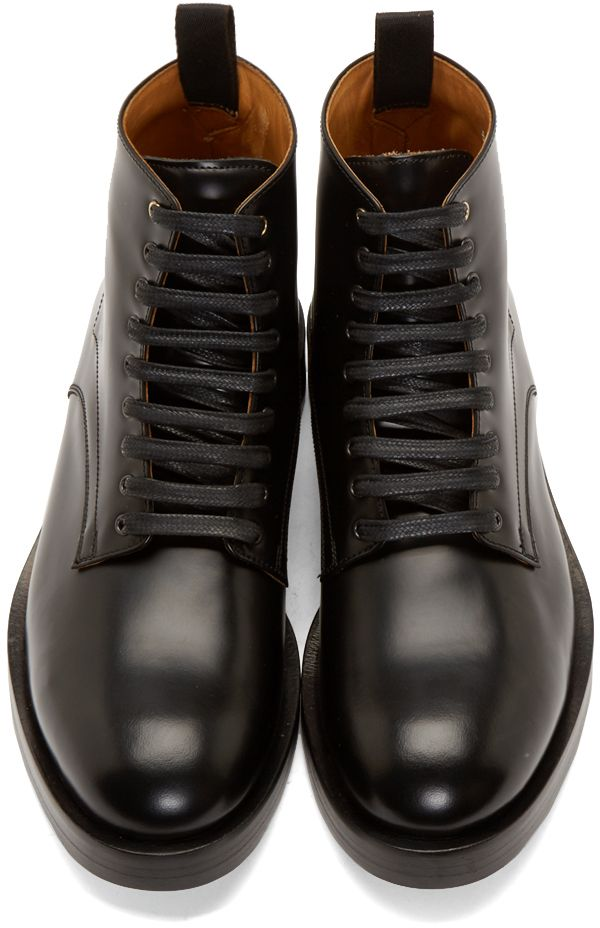 Paul Smith Black Leather Kelly Boots