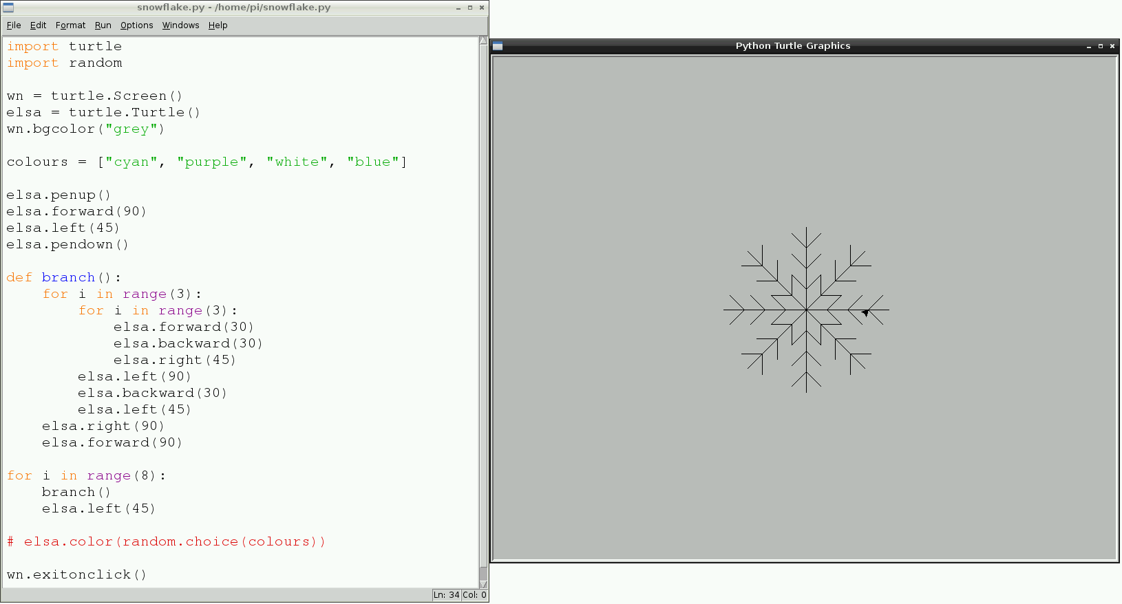 Draw A Snowflake With Code