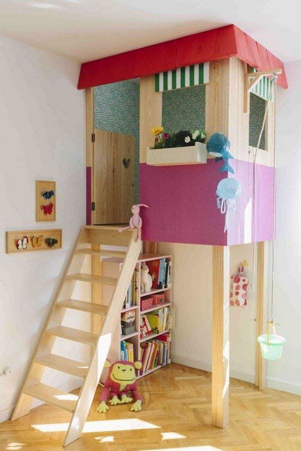 Creative Indoor Playhouse. Great Idea To Bring The Fun Indoors. Http:// ·  Kids Play Area ...