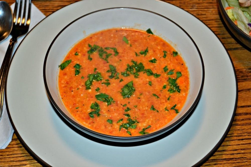 Smoky Roasted Red Bell Pepper Soup