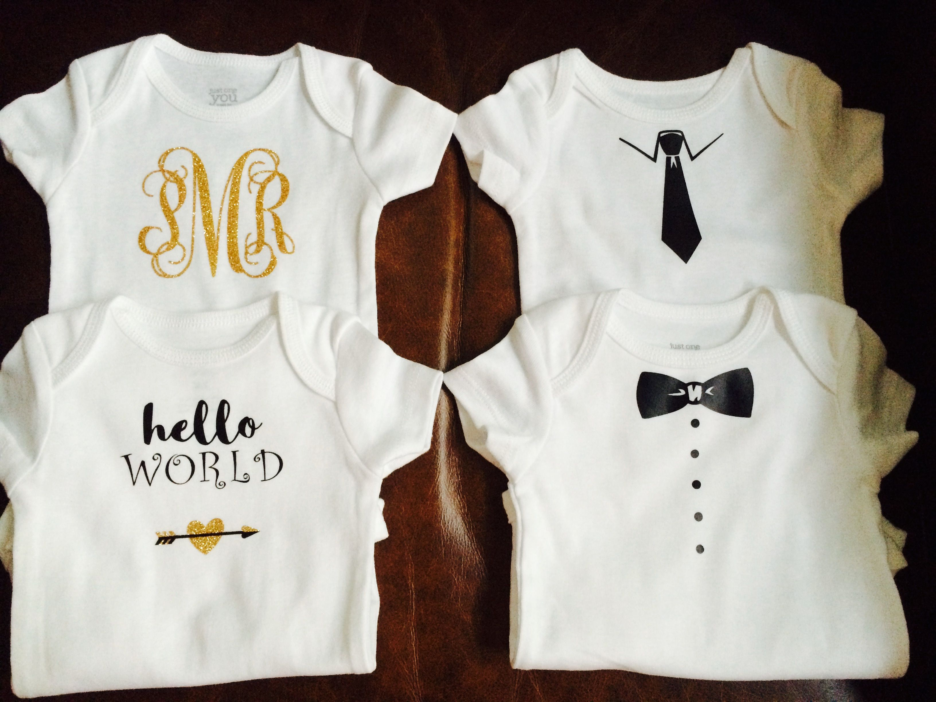 baby gifts made with iron on vinyl cricut projects pinterest