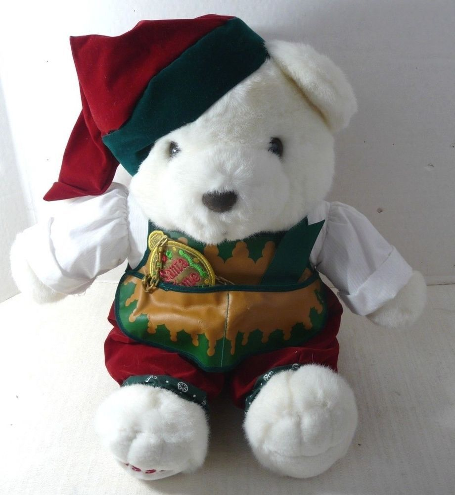 K Mart Christmas Teddy Bear 1995 White Alpine Boy 18\