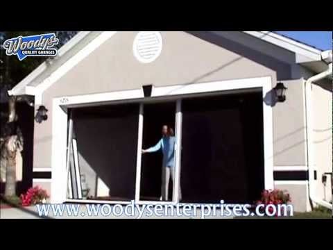 Breezy Living Retractable Garage Screen Door System Video Demonstration By Woodys Enterprises Youtube Garage Screen Door Screen Door Garage