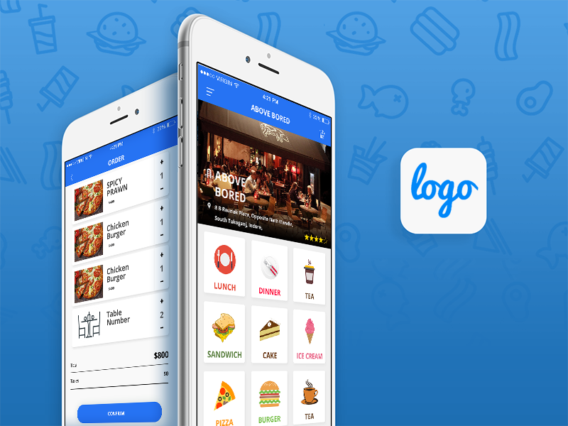 Restaurant App Design Template Free- Android, iOS App For Food