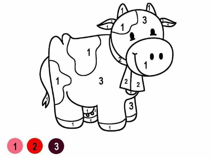 Pin de Gabriela Rio en Kinder | Pinterest | Colorear, Números y ...