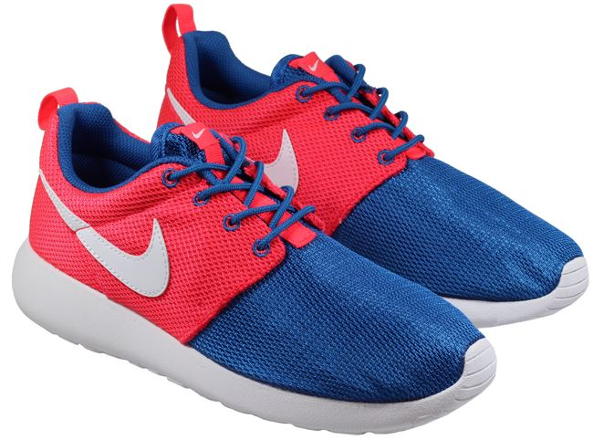 junior nike roshe run red white blue