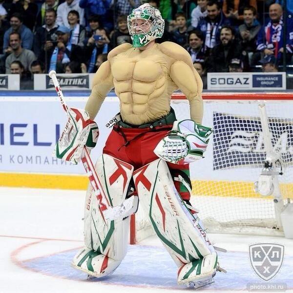 Goalie Pads In Russian All Star Game Funny Hockey Memes Hockey Humor Hockey Kids