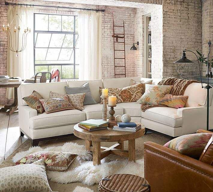 Pottery Barn Build Your Own Seabury Upholstered Sectional