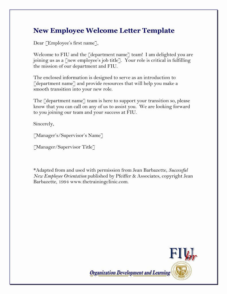 Welcome Letter To New Employee Best Of New Employee Wel E Letter Template Lettering Business Letter Example Simple Cover Letter Template