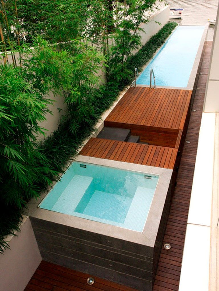 15 id es pour int grer une mini piscine dans votre jardin for Piscine coque acrylique