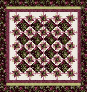 ROSE APPLE COTTAGE BURGUNDY Queen Size Complete Quilt Kit | show ... : complete quilt kits - Adamdwight.com