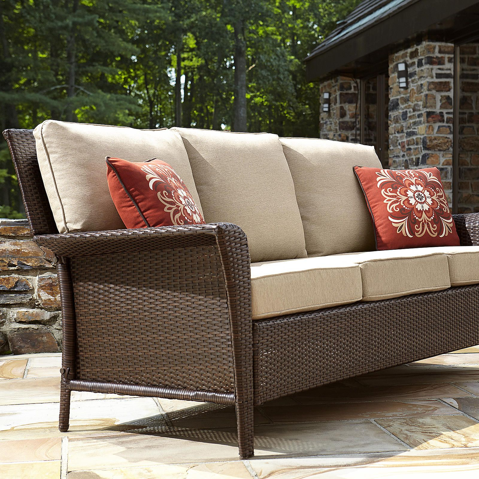 Ty Pennington Style Parkside 3 Seat Sofa Outdoor Living Patio Furniture Benches Sofas Loveseats