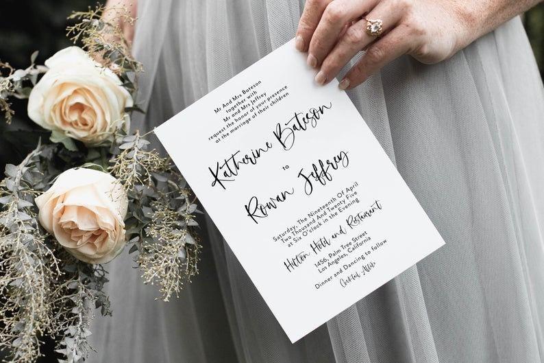 Photo of Minimalistische Hochzeitseinladung Moderne Hochzeitseinladungen