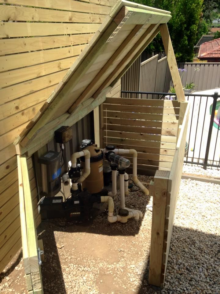 Pool Pump Enclosure With Liftable Lid With Images Pool Shed
