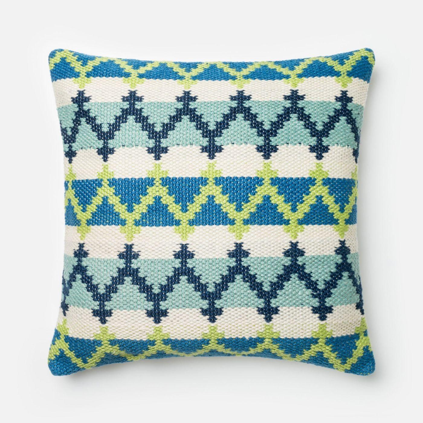 Loloi Blue Green Decorative Throw Pillow P0340