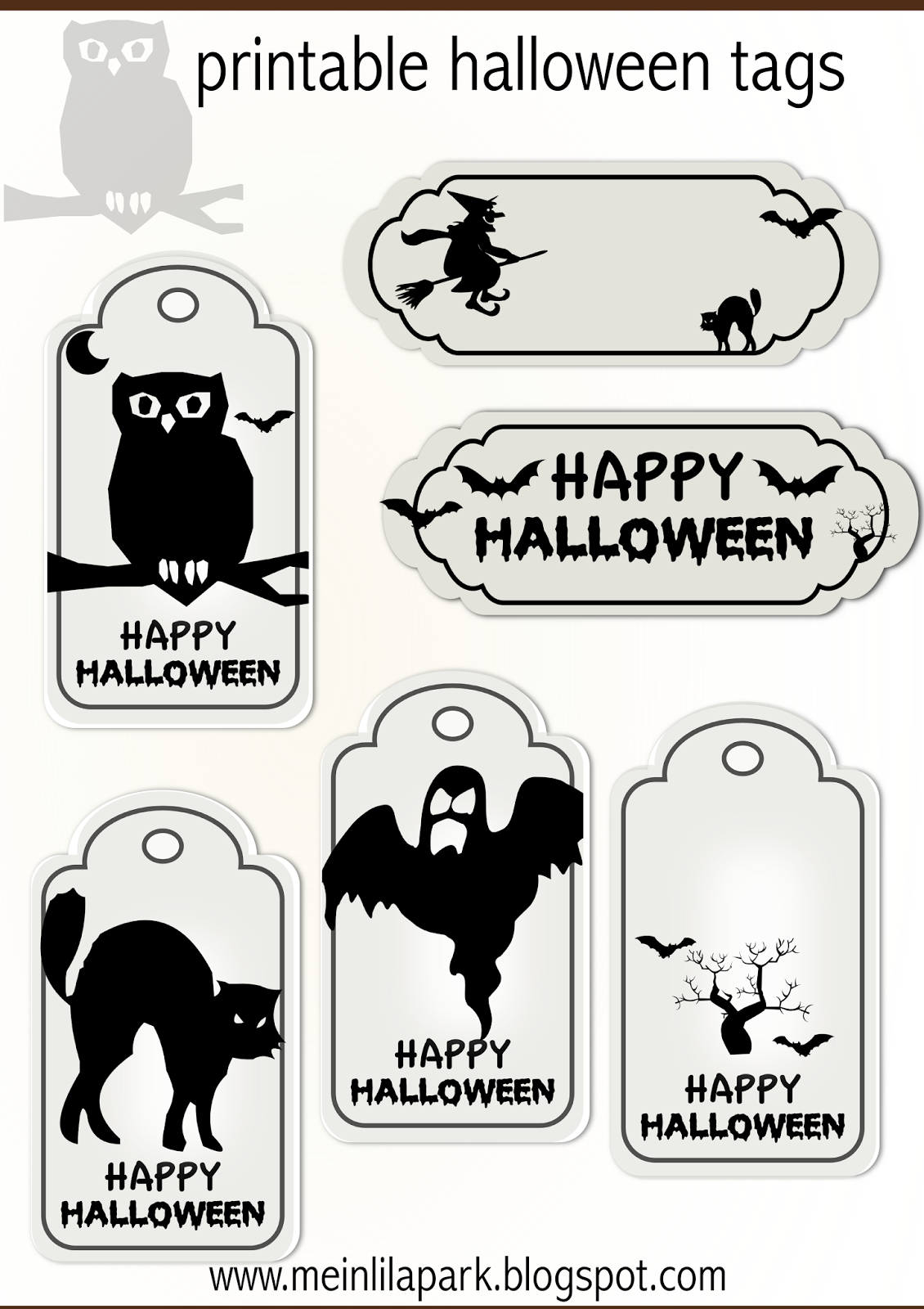FREE printable halloween tags - for your treat bags ...