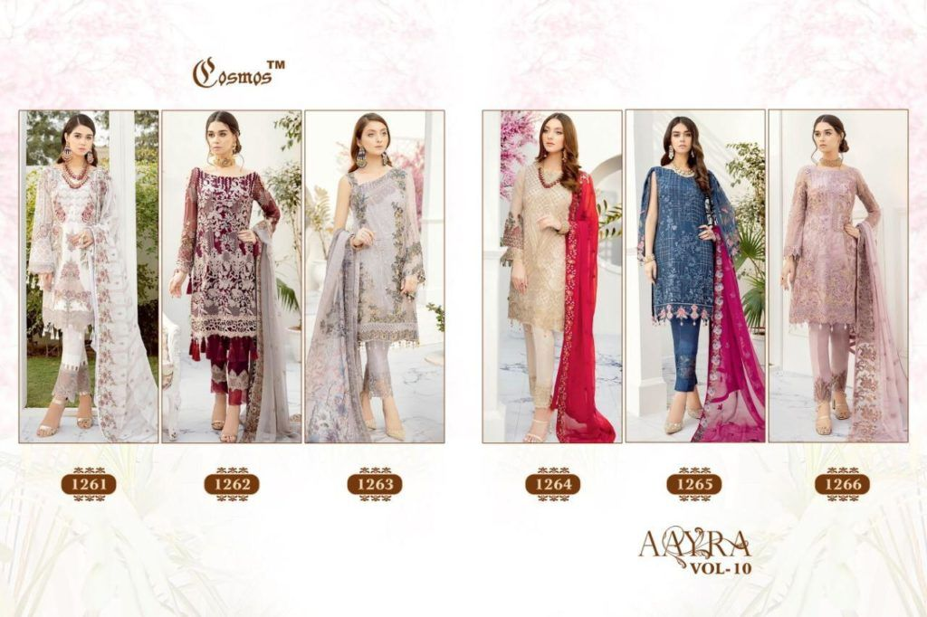 Aarya Vol 10 Cosmos Fashion Fox Georgette Pakistani Suits Wholesale Collection At Surat Wholesaleyug In 2020 Pakistani Dresses Fashion Pakistani Suits
