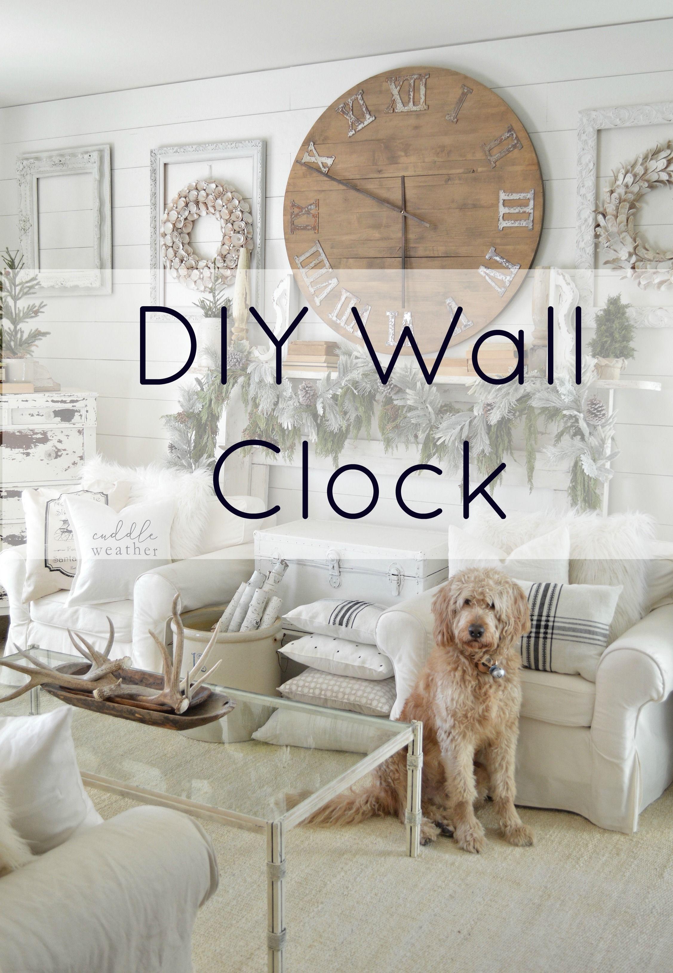 Diy Table Top Wall Clock Large Wall Clock Decor Large Wall