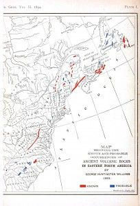 GeoPolitical Map US Map of ancient volcanoes New England