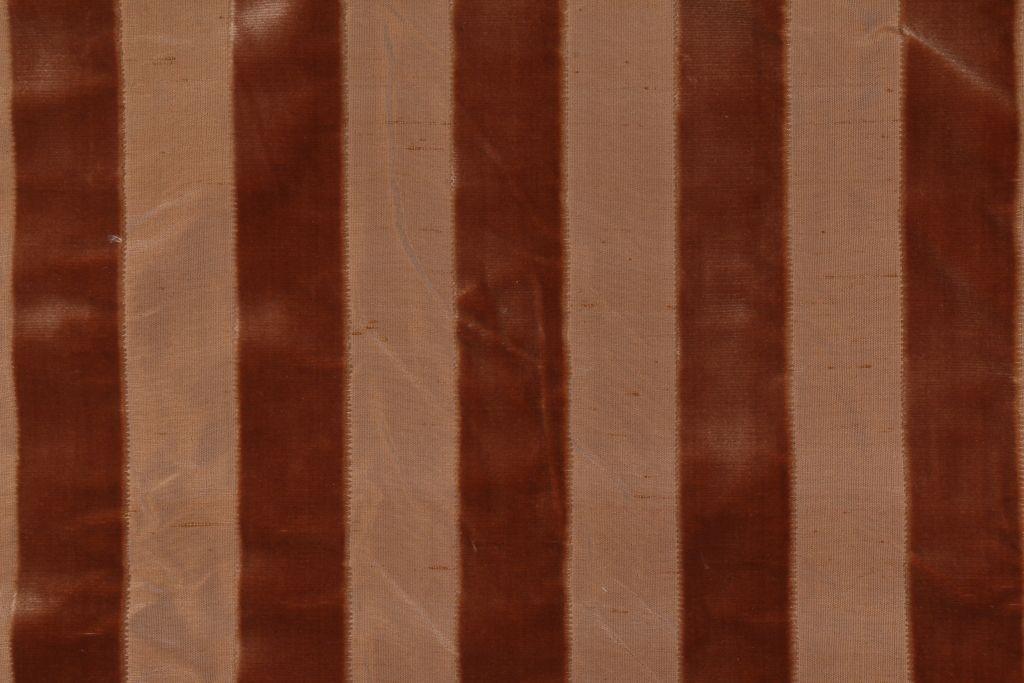 3 Yards Robert Allen Velvet Stripe Silk Velvet Upholstery Fabric in Pecan #velvetupholsteryfabric