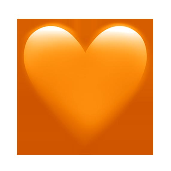 Orange Heart Heart Emoji Emoji Wallpaper Iphone Emoji