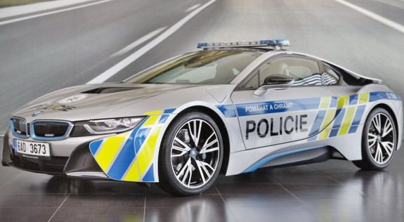 Bmw I8 Hybrid Electric Car For Prague Police Unique Strange