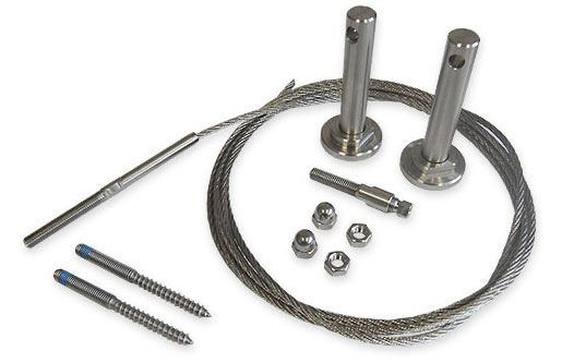 1 Metre Tensioned Stainless Steel Wire Trellis Kit for DIY