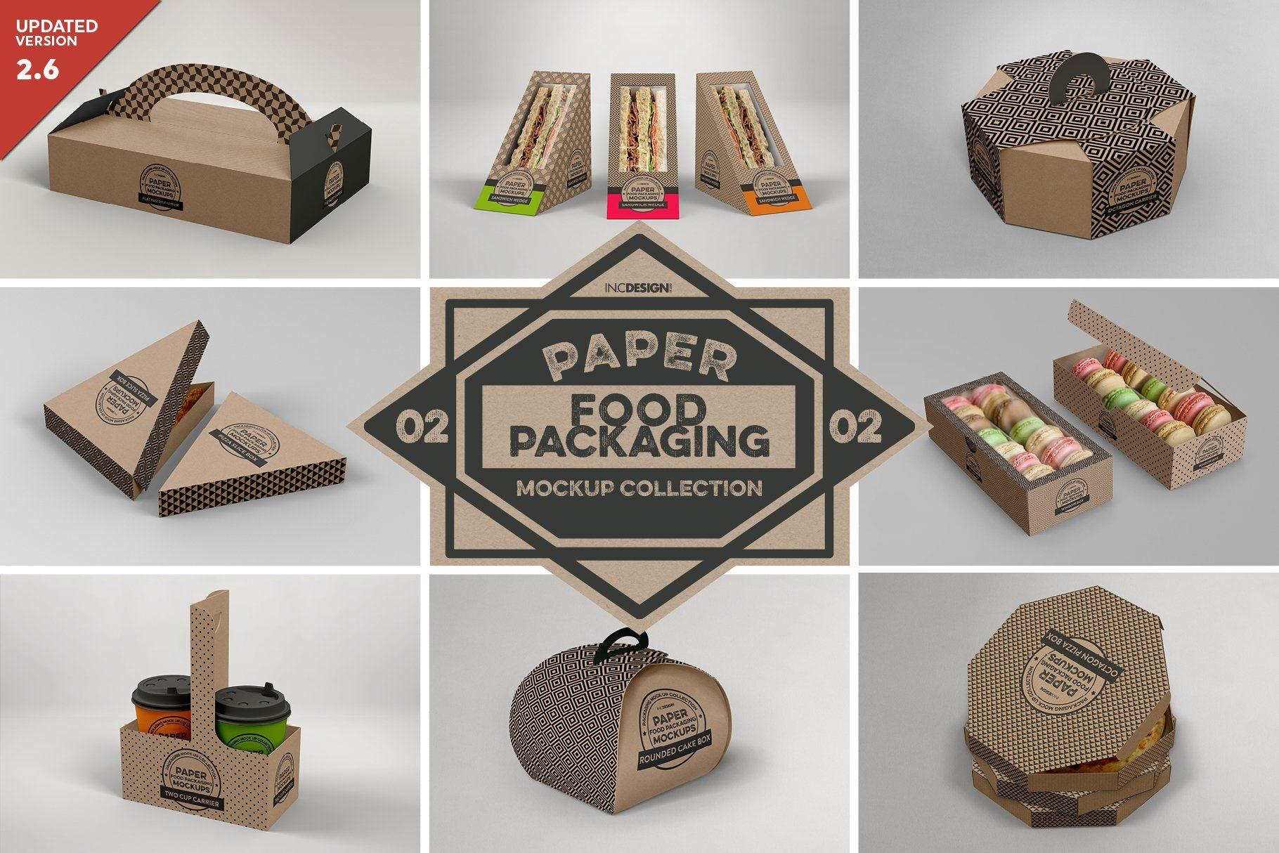 Download Vol 2 Food Box Packaging Mockups Food Box Packaging Packaging Mockup Free Packaging Mockup