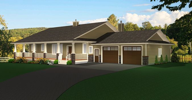 Plan 2011545: A Ranch Style Bungalow Plan With A Walkout