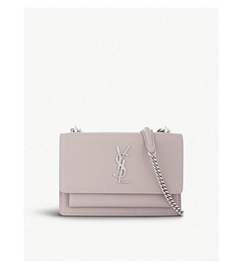 5cca93880d3 NWT YSL Saint Laurent Sunset Small Rose Poudre Chain Wallet Crossbody –  MyDesignerly