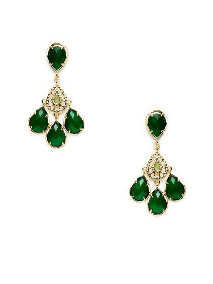 Flynn Teardrop Chandelier Earrings by Kendra Scott Jewelry on Gilt ...