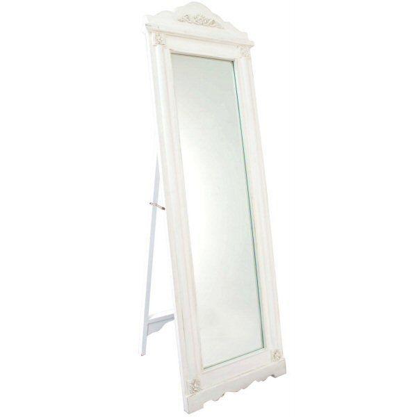 Ivory white french vintage full length free standing for White full length mirror