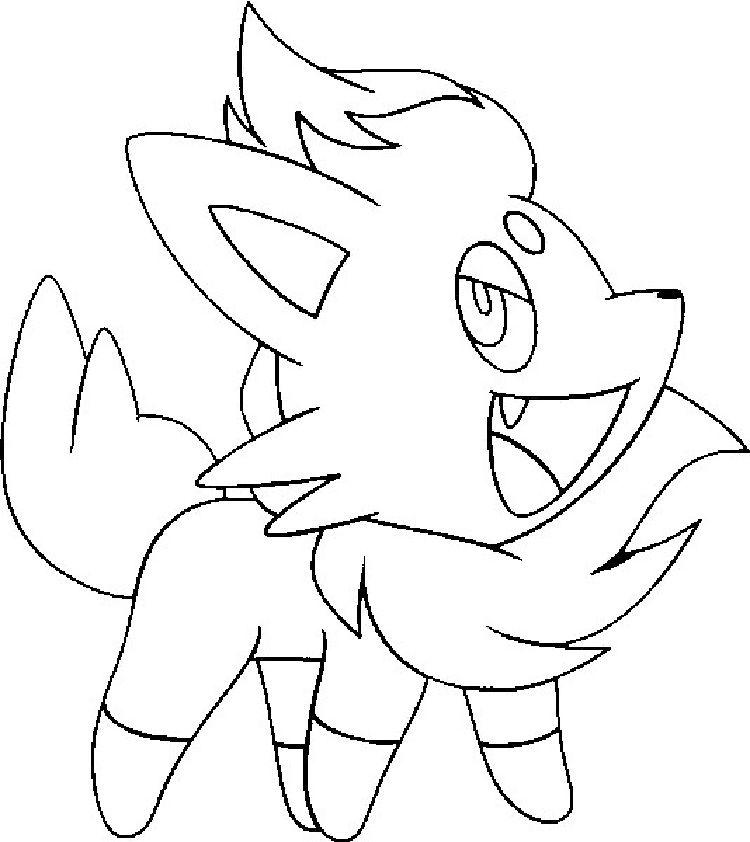 Pokemon Coloring Pages Zorua