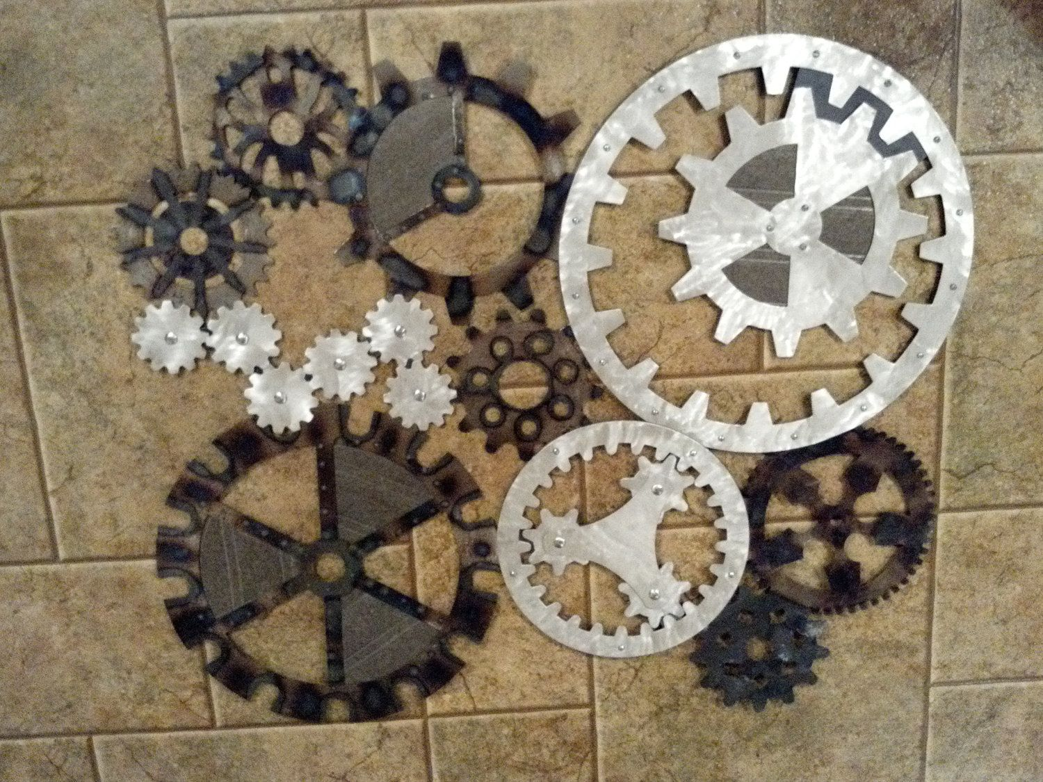 Steampunk Decor Gears Art Industrial Steampunk Wall Decor Made To Order