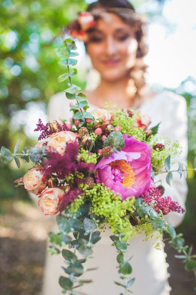 bouquet fleurs mari e champ tre boh me w e d d i n g flowers pinterest bouquet fleurs. Black Bedroom Furniture Sets. Home Design Ideas