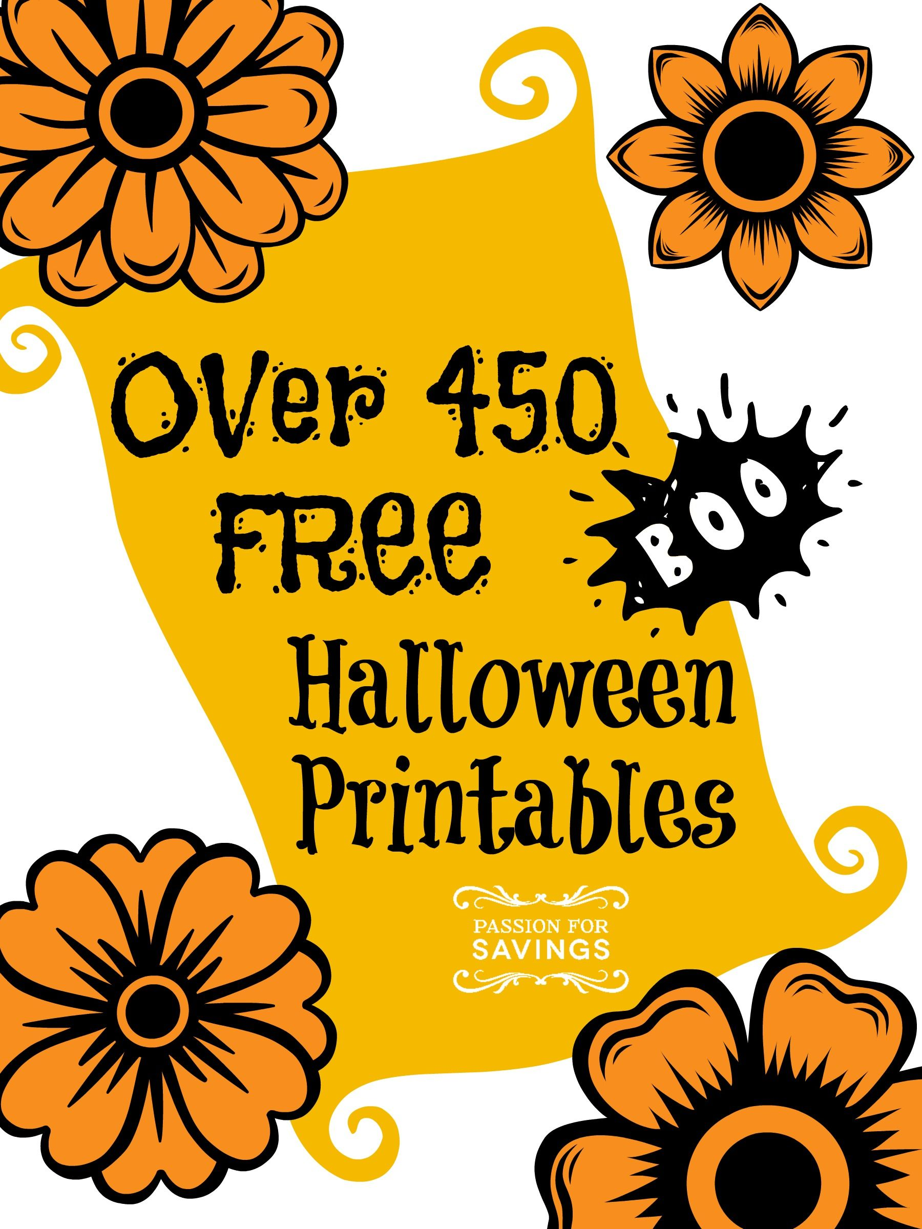 Check Out This List Of Over 450 Free Halloween Printables