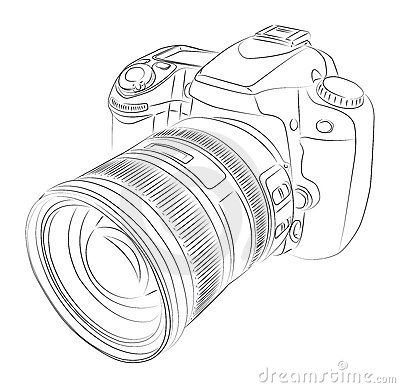 camera tattoo. Make this a Nikon design, Watercolor most