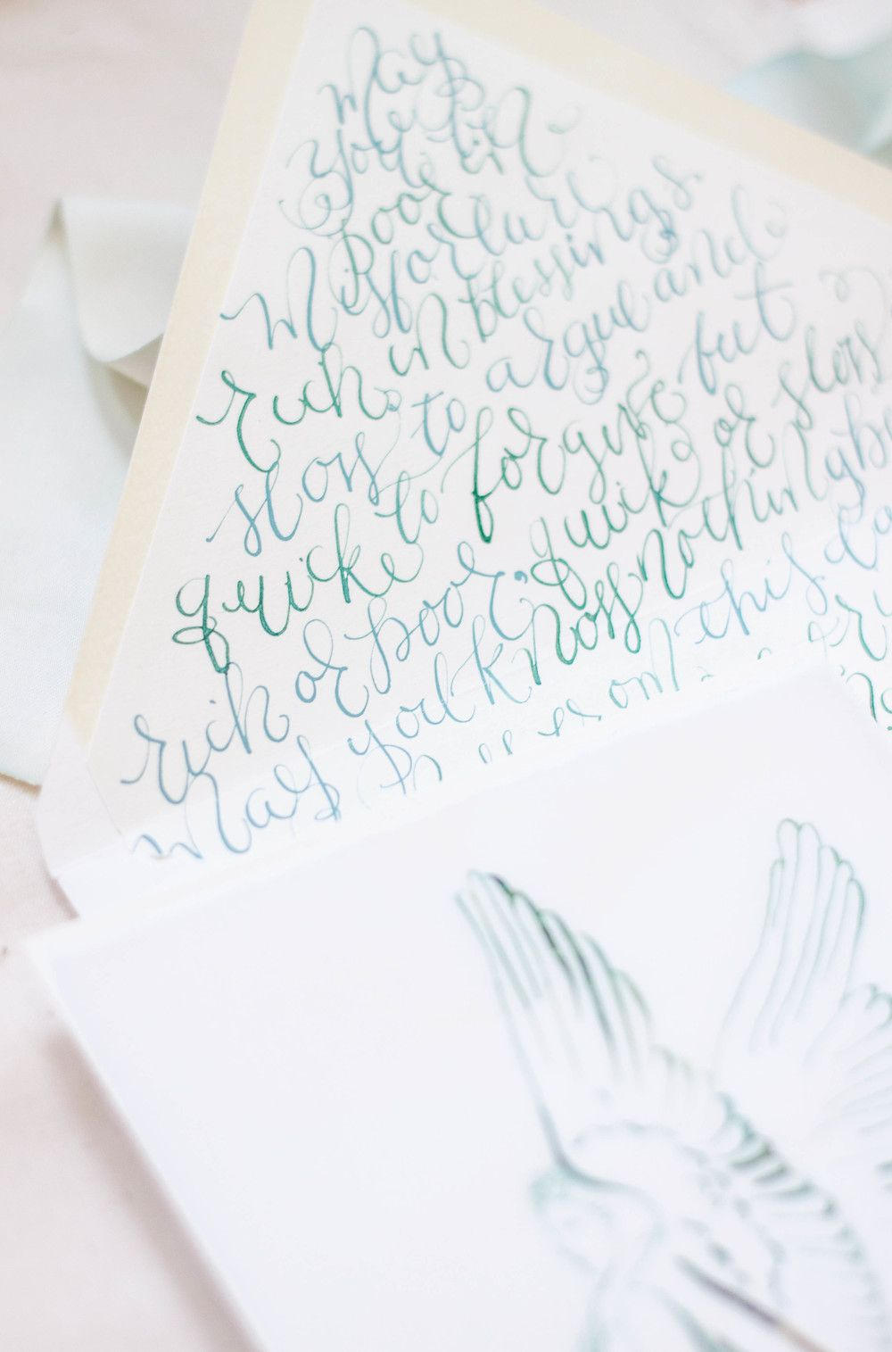 Bon Design House Of Moira | Calligraphy Wedding Invitations | Ireland