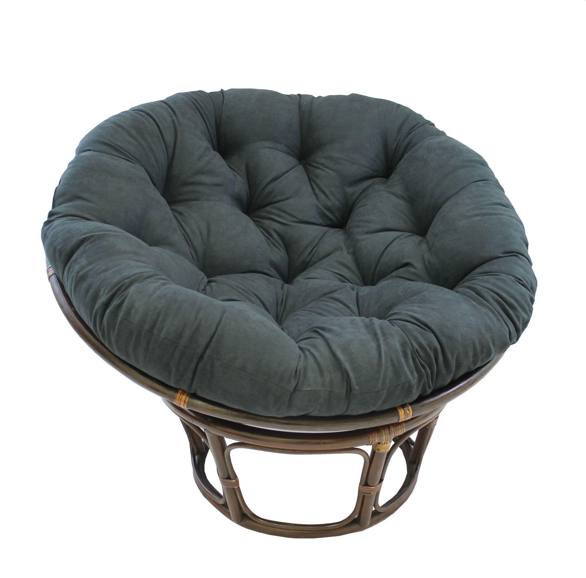 International Caravan Rattan 42 Inch Papasan Chair With Micro