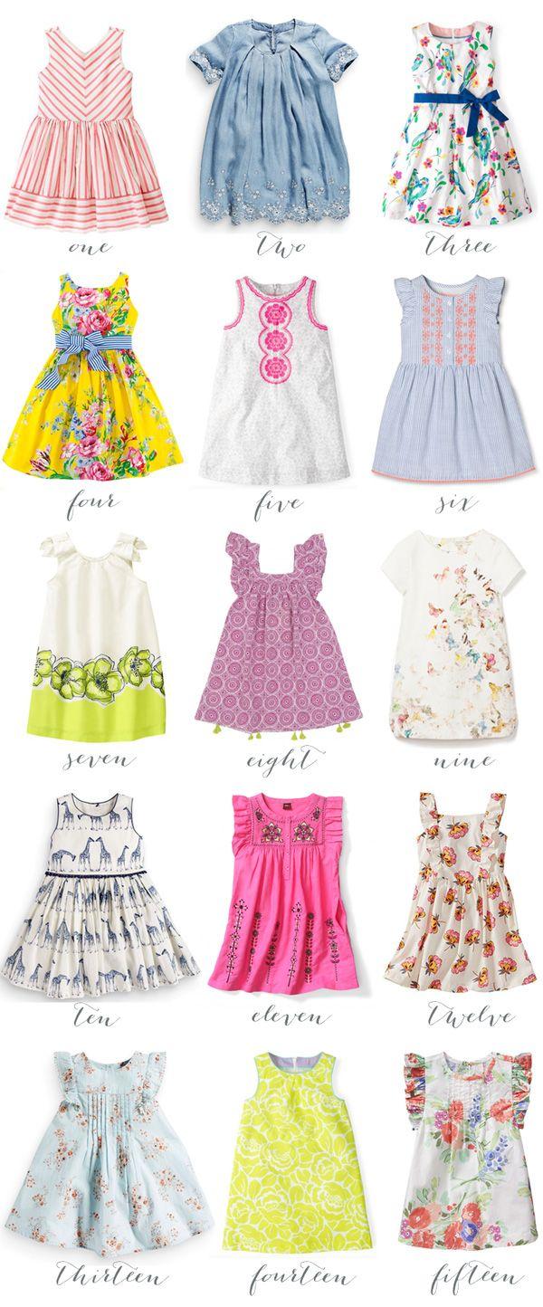 fifteen spring dresses for girls!  Girls spring dresses, Dresses