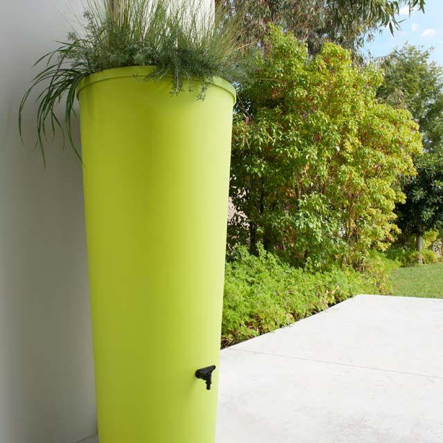 Récupérateur du0027eau 320L Vert + bac à fleurs - CASTORAMA Idées pour - recuperation eau de pluie maison