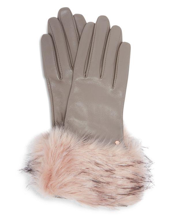 ae1aeba58b9 Ted Baker Jullian Round Faux Fur Gloves   Modern   Faux fur, Gloves ...