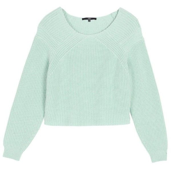 Tibi Light Blue Cropped Pullover Sweater 295 Liked On Polyvore