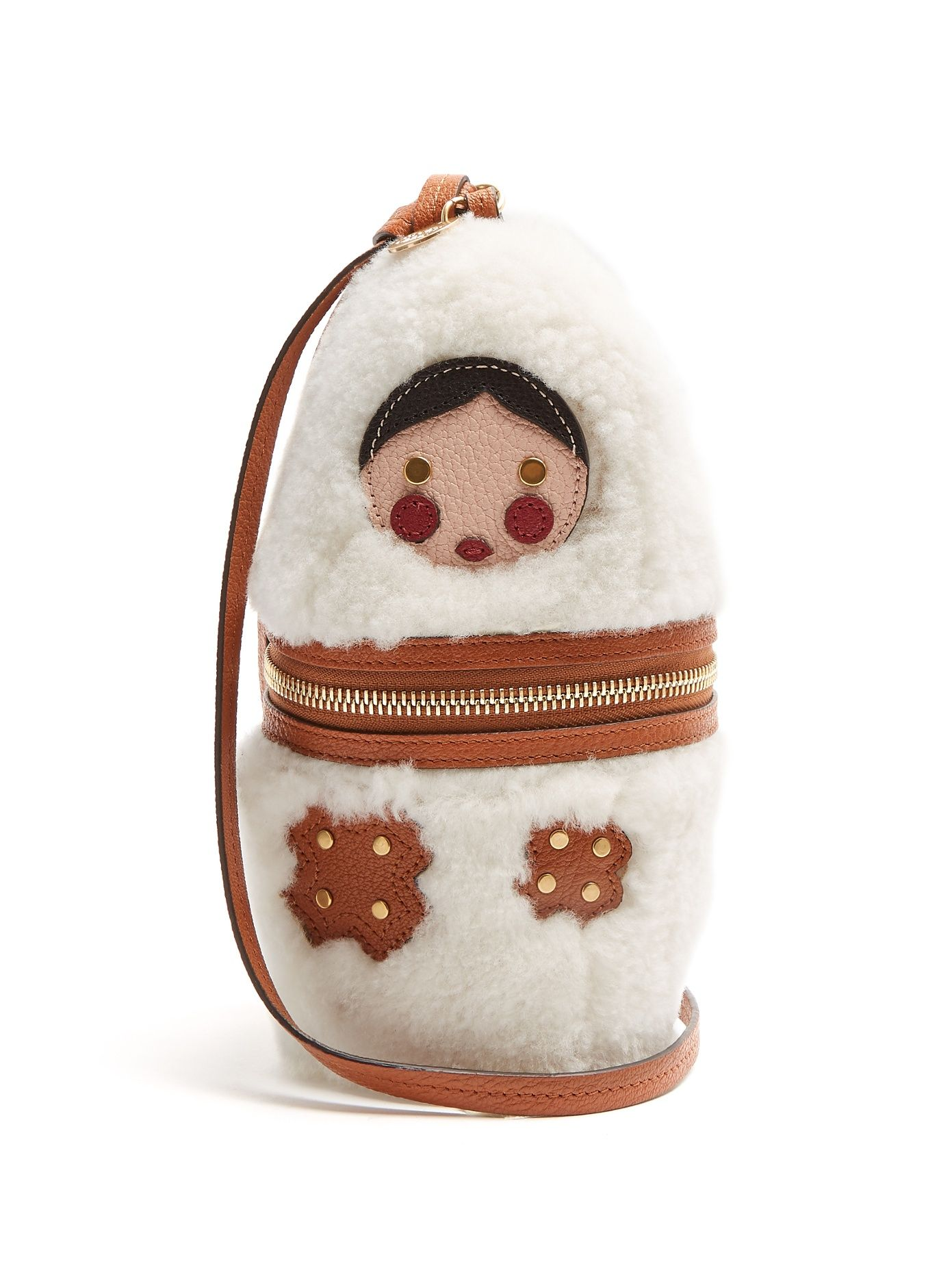 Russian Doll Shearling Clutch See By Chloé Matchesfashion Com Uk