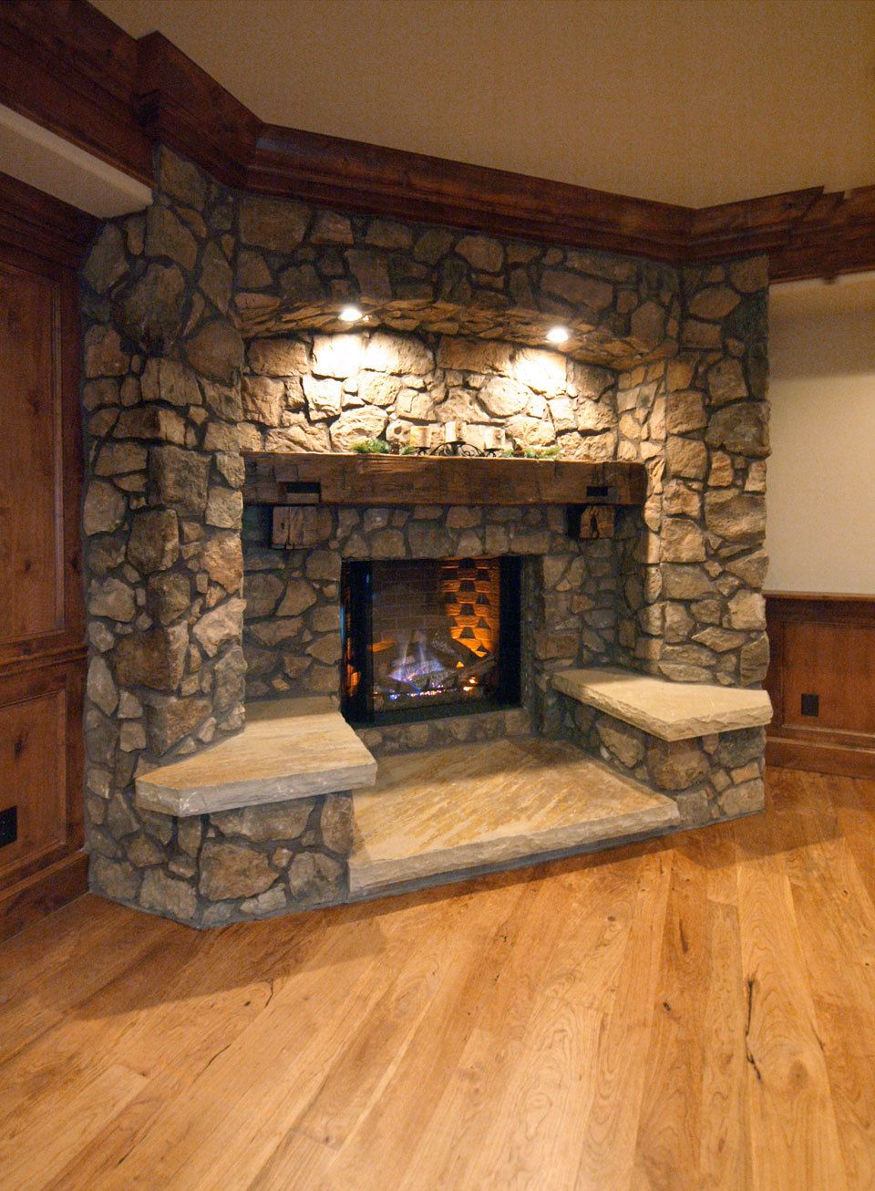 Perfect fireplace For the Home Pinterest Rustic fireplaces
