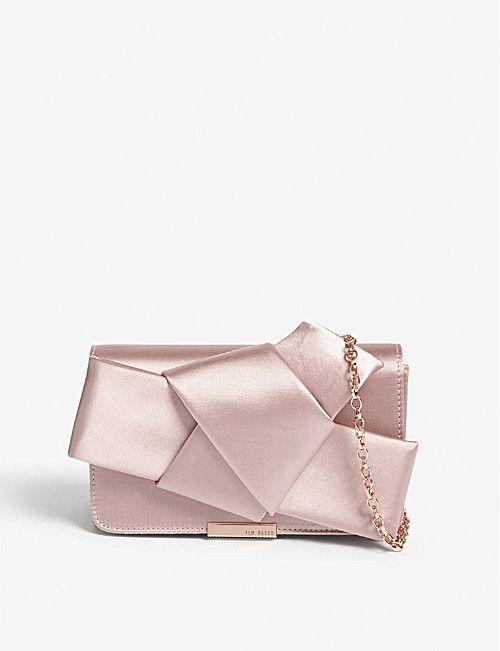 ad78197eba69f TED BAKER Knot bow satin evening bag